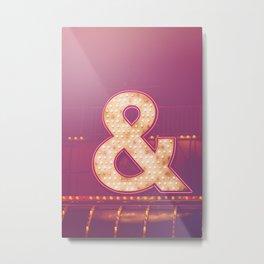 Neon Ampersand Metal Print