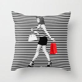 Stripes in fashion Throw Pillow