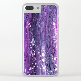Under The Purple Sea Clear iPhone Case