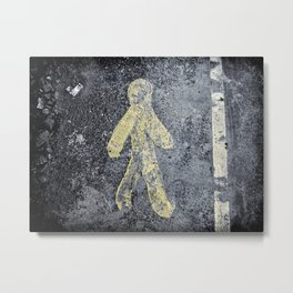 Yellow BituMan Metal Print