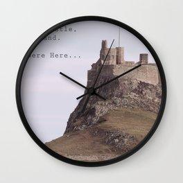 postcard from lindisfarne castle... Wall Clock