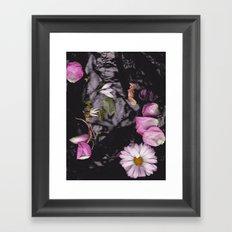 Black/Pink Framed Art Print