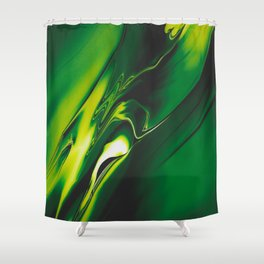 Green Fear Poison Shower Curtain