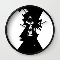 cyclops Wall Clocks featuring Cyclops by 5wingerone