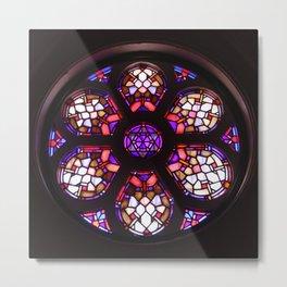 Iglesia del Valle Rosary Window Metal Print
