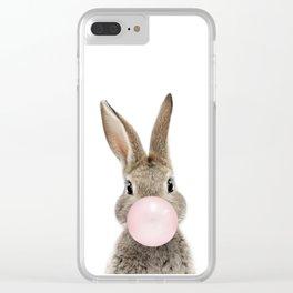 Bubble Gum Bunny Clear iPhone Case