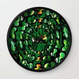 Flowers in Another ism Wall Clock