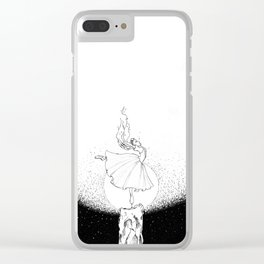 sparkle me... a light of my own Clear iPhone Case