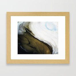 Slice of Heaven - Original Abstract Painting Framed Art Print