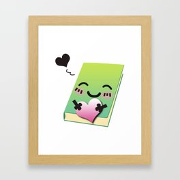 Book Emoji Love Framed Art Print