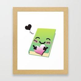 Book Emoji Love Framed Art Print