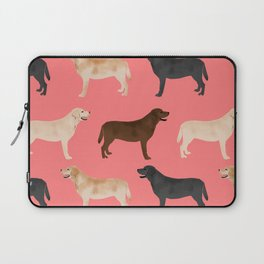 Labrador retriever coats of all colors dog breed pet portraits dogs pets unique pet themed gifts Laptop Sleeve
