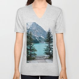 354. Louise Lake View, Banff, Canada Unisex V-Neck