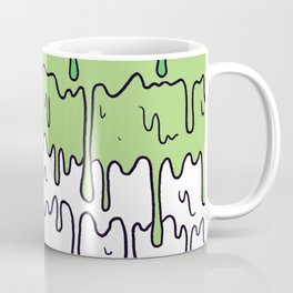Cute Pride Pastel Melting Pride Design, Aromantic flag Coffee Mug