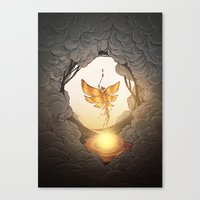 final fantasy Canvas Prints featuring final fantasy by Isabel Seliger