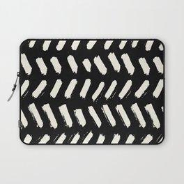 Tribal Dance Dot - Ivory on Black Laptop Sleeve