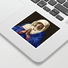 The Virgin in Prayer by Giovanni Sassoferrato (c. 1645) Sticker