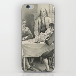 Vintage Illustration of the Declaration Committee iPhone Skin