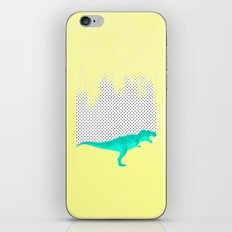 dino got the blues, or not! iPhone & iPod Skin