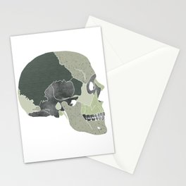 We are not the earth // Green Skull // Textured Skull // Beautiful Bones Stationery Cards