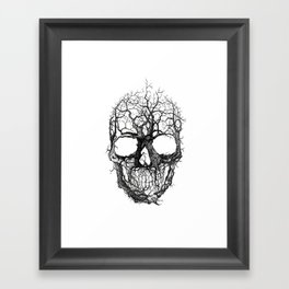 Tree Skull Framed Art Print
