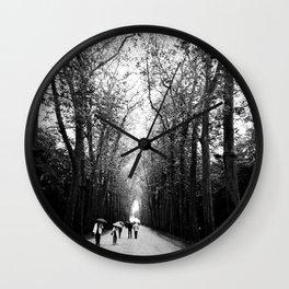 The walk to Château de Chenonceau Wall Clock