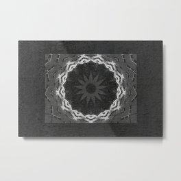 Backyard sunflower Metal Print