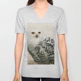 Snowy Owl Unisex V-Neck