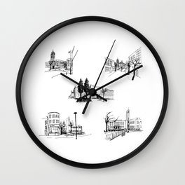 crouch end icons Wall Clock