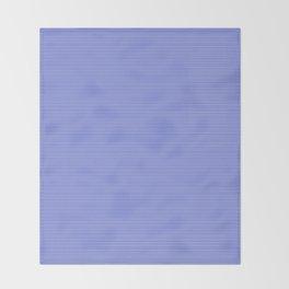 Cobalt Blue and White Horizontal Thin Pinstripe Pattern Throw Blanket