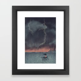 Trump and Climate Change Framed Art Print