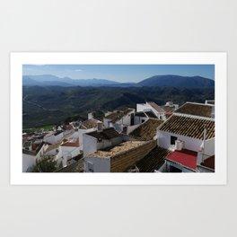 Roofs of Olvera Art Print