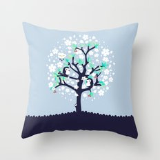 Bloomy Throw Pillow