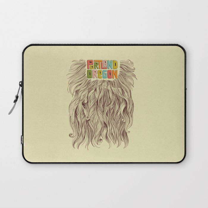 Portland = Beards Laptop Sleeve