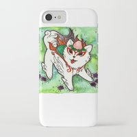 okami iPhone & iPod Cases featuring Amaterasu from Okami 01 by Jazmine Phillips