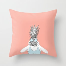 Pinapple Head Throw Pillow