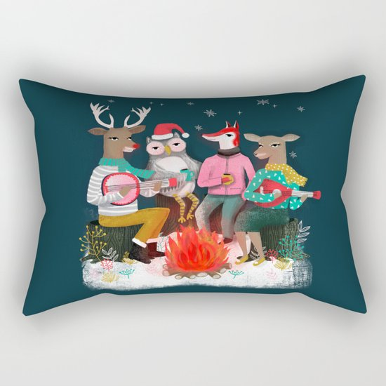 Fireside Christmas by Andrea Lauren  Rectangular Pillow
