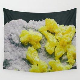 Sulfur on Celestine Wall Tapestry