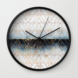 Winter Blue Geo Wall Clock