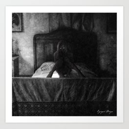 Dark Victorian Portraits: The Honeymoon is over Art Print