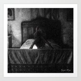Dark Victorian Portraits: The Honeymoon is over Art Print