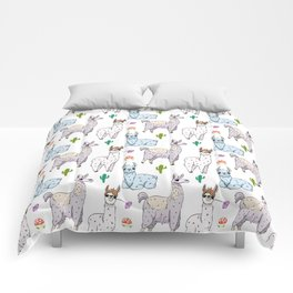 Cute and Whimsical Llama Pattern Comforters