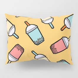 Bubble Tea Pattern Pillow Sham