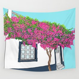 Little house in Portugal Wall Tapestry