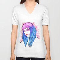 candy V-neck T-shirts featuring candy by fixthesky