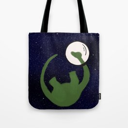 Dave the Dinosaur in Space Tote Bag