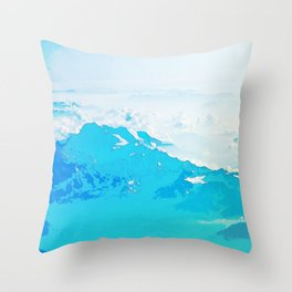 Fantasy Blue Mountaintop Throw Pillow