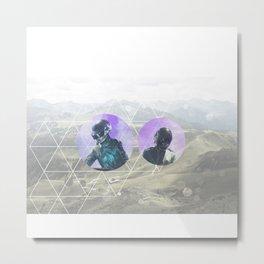 Peace, quiet, DAFTPUNK Metal Print