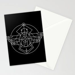 Egyptian Scarab Sacred Geometry Stationery Cards