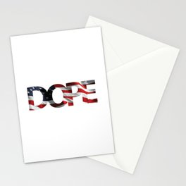 Dope Patriotic Fourth of July T-shirt Stationery Cards